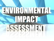 Environmental Impact Assessment. Rendered Environmental Impact Assessment with white background Royalty Free Stock Image