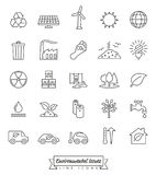 Environmental Issues Line icons set Royalty Free Stock Photos