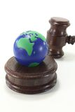 Environmental law with globe and Judge Gavel Stock Images