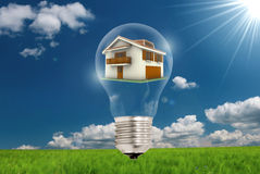 Environmental light bulb Royalty Free Stock Images