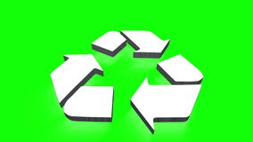 Environmental logo in 3d stock video footage