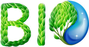 Environmental logo made of leaves Stock Image