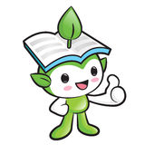 Environmental Mascot the hand best gesture. Nature Fairy Charact Stock Photography