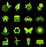 Environmental Nature Icons Collection Stock Photos