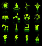 Environmental Nature Icons Collection Royalty Free Stock Photos