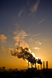 Environmental pollution. Fume from smokestack stock photography