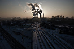 Environmental pollution. Ecological crisis photo stock photo