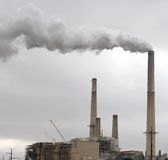 Environmental Pollution - Factory Chimney Stock Photography
