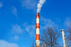 Environmental pollution from heavy industry Royalty Free Stock Photography