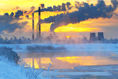 Environmental pollution.Industrial business. Stock Image