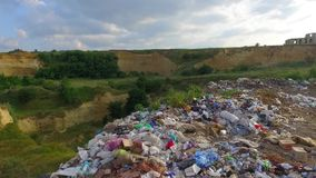 Environmental Pollution, Piles of Garbage stock footage