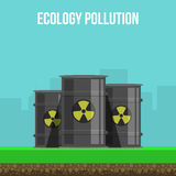 Environmental Pollution Poster Stock Photography