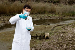Environmental pollution - research royalty free stock image