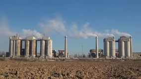 Environmental pollution stock video footage