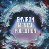 Environmental pollution text by plastic bags World Environment Day concept. Human intervention in nature. Natural materials royalty free stock photo