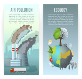Environmental Pollution Vertical Banners Stock Image