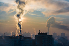 Environmental pollution. Royalty Free Stock Image