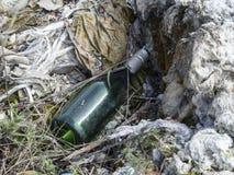 Environmental problem. Wastes which contaminate soils Stock Photos