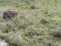 Environmental problem. Wastes which contaminate soils Stock Photo