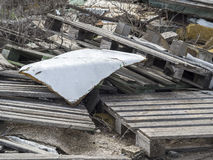 Environmental problem. Wastes which contaminate soils.  royalty free stock photo