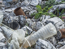 Environmental problem. Wastes which contaminate soils.  stock photography