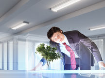 Environmental problems and high-tech innovations stock image