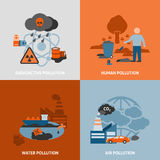 Environmental Problems Icons Set Royalty Free Stock Photo