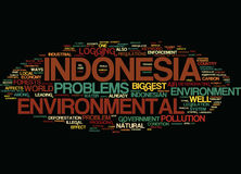 Environmental Problems In Indonesia Text Background  Word Cloud Concept Royalty Free Stock Images