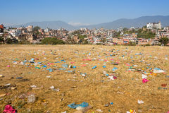 Environmental problems in Kathmandu. Royalty Free Stock Photo