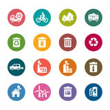 Environmental Protection Color Icons Royalty Free Stock Photos