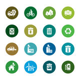 Environmental Protection Color Icons Royalty Free Stock Photography