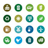 Environmental Protection Color Icons Stock Image
