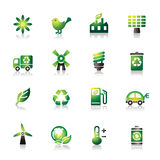 Environmental Protection Colorful Icons Royalty Free Stock Images