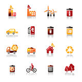Environmental Protection Colorful Icons Royalty Free Stock Photo