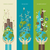 Environmental protection, ecology concept vertical Stock Photos