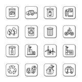 Environmental Protection Icons Stock Photo