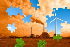 Environmental puzzle Royalty Free Stock Photography