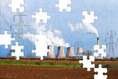 Environmental puzzle Stock Photo