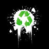 Environmental recycling icon grunge Stock Image