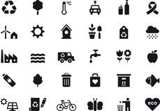 Environmental and recycling icon set Stock Images