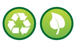 Environmental / recycling icons Royalty Free Stock Photos