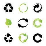 Environmental / recycling icons Royalty Free Stock Photography