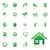 Environmental recycling icons. Vector recycle  icons set for web design Stock Photos