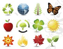 Environmental / recycling icons Stock Images