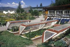 Environmental Research Bio-Dome at the Windstar Foundation in Aspen, CO Royalty Free Stock Photo