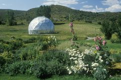 Environmental Research Bio-Dome at the Windstar Foundation in Aspen, CO Stock Photo