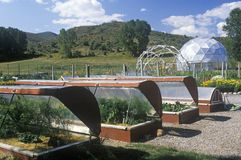 Environmental Research Bio-Dome at the Windstar Foundation in Aspen, CO Stock Images