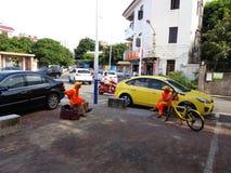 Environmental sanitation worker Stock Image