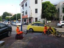 Environmental sanitation worker Royalty Free Stock Photos