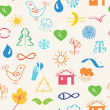 Environmental seamless pattern Stock Photo